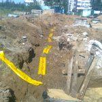 Строительство газопровода к дому 1