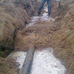 Строительство газопровода к дому 8